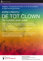 """Dissabte se celebra l'espai creatiu """"De tot clown"""", al Casal de les Escodines"""