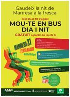 L'Ajuntament de Manresa reforça el bus urbà a tots els barris els dies de Festa Major per tal d'afavorir la mobilitat en transport públic