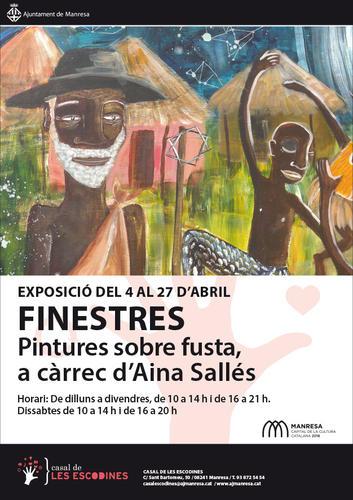 L'exposició 'Finestres', de l'artista manresana Aina Sallés, a partir de demà al Casal de les Escodines