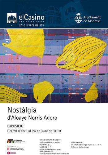 El Casino acull a partir d'avui l'exposició del pintor nigerià resident a Manresa Aloaye Norris Adoro