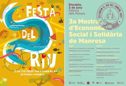 La riba del Cardener esdevé dissabte l'epicentre de Manresa amb la Festa del Riu i la Mostra d'Economia Social
