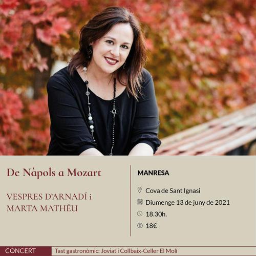 La soprano Marta Mathéu i l'orquestra Vespres d'Arnadí clouen aquest diumenge a Manresa el festival Espurnes Barroques