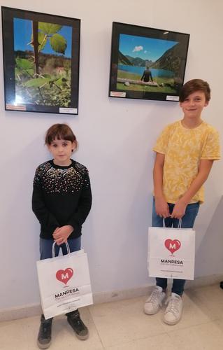 Guillem Terradellas i Muriel Forn guanyen els premis de Viatges Manresans en categoria infantil